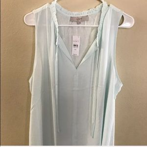 LOFT Semi Sheer Blouse XXL